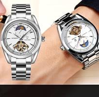 1 Đồng hồ cơ chính hãng Tevise, có bảo hành, sang trọng, đẳng cấp