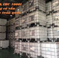 1 Tank nhựa đựng hóa chất,tank IBC, bồn nhựa 1000l