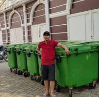 2 Thanh lý xe gom rác 660L