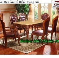 17 Mẫu bàn ăn cổ điển 10 ghế gỗ tự nhiên bền chắc đẹp ngất ngây
