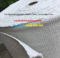 1 Vải sợi gốm Ceramic cách nhiệt, chống cháy