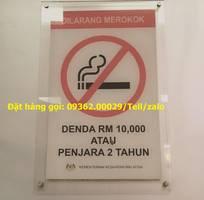 12 Biển nosmoking- Biển cấm hút thuốc mica, inox gia công ngay tại xưởng
