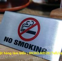 13 Biển nosmoking- Biển cấm hút thuốc mica, inox gia công ngay tại xưởng