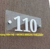 9 Biển bảng số nhà chữ nổi inox mica sản xuất theo yêu cầu