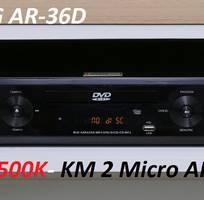 Đầu Karaoke 5 số Arirang AR-36D khuyến mãi 2 micro AR-3.6C