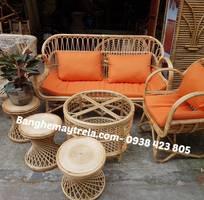 6 Bàn ghế sofa mây tre đan
