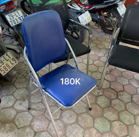 3 Bán thanh lý 200 ghế gấp da lưng cao khung mạ inox Hòa phát giá RẺ