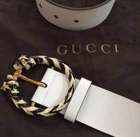 5 Thắt lưng GUCCI White authentic italy new 100. .