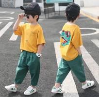 Set áo quần bé trai áo phông   quần thô dạng kaki