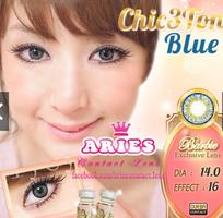 1 Sỉ 50k Lẻ Lens Thái BLUE xanh da trời - Kính áp tròng 0-2-55-6 độ sỉ lẻ