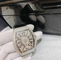 Đồng hồ Franck Muller Vanguard V41 Steel Custom Full Diamond