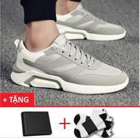 2 Giày sneaker nam mẫu mới +1 ví+ 1 đôi tất t1801xm