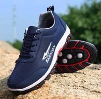 Giày thể thao nam - fashion xanh đế nệm khí