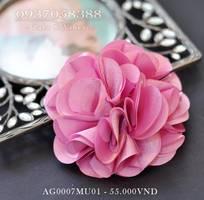 1 Bộ 5 hoa lụa cài áo tông hồng af0007mu01