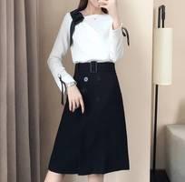 1 Set váy đen áo trắng  - tđ 03