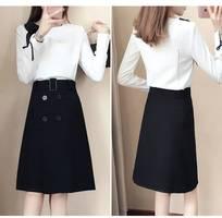 Set váy đen áo trắng  - tđ 03