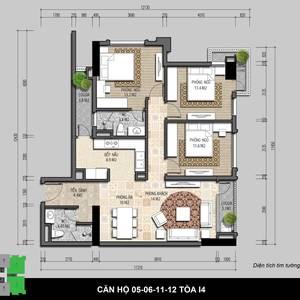 Bán chung cư IRIS GARDEN 2   3 phòng ngủ, Mỹ Đình, Nam Từ Liêm giá tốt nhất trực tiếp từ CDT