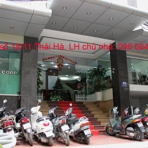126m2 VP cho thuê tại phố Thái Hà. Chính chủ, giá rẻ, DV tốt. LH trực tiếp chủ nhà 0986 646 169