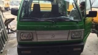 Bán xe Suzuki Carry Blind van xe bán tải mầu xanh, hỗ trợ trả góp thủ tục nhanh...