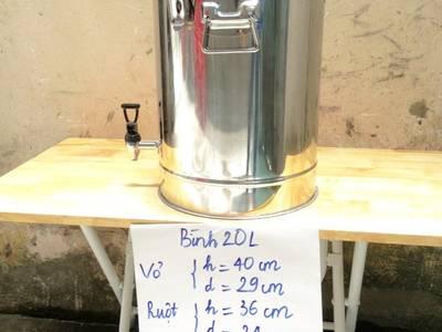 Bình inox cách nhiệt hai lớp chất lượng cao 0