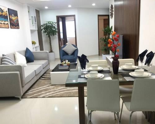 Cho thuê chung cư vinaconex1 1 khuất duy tiến, 115 m2 chia  3 ngủ đồ cơ bản