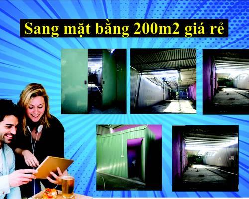 Sang mặt bằng giá rẻ tại Hòa Khánh