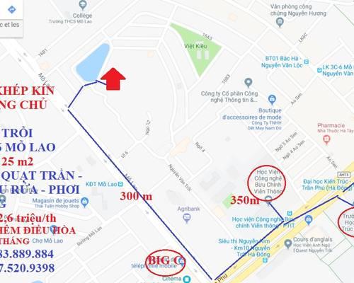 Phòng trọ khép kín big C hà đông, HỒ GƯƠM PLAZA chỉ 200 m, ngõ 255 Nguyễn Văn Trỗi, mới riêng chủ