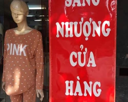 Sang nhượng cửa hàng phố Phạm ngọc Thạch.