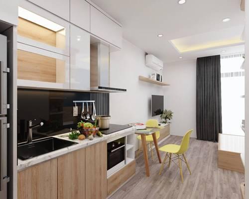 Cho thuê Căn Studio tầng15 View vườn nội khu tòa G3 Vinhomes Green Bay Full nội thất giá 9 triệu/th