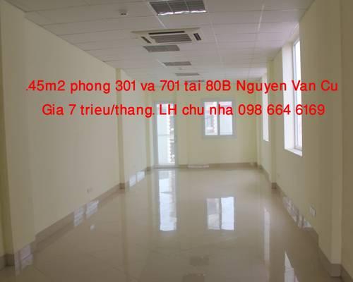 Chủ nhà cho thuê 45m2 VP tại Nguyễn Văn Cừ, Long Biên.LH 098.664.6169