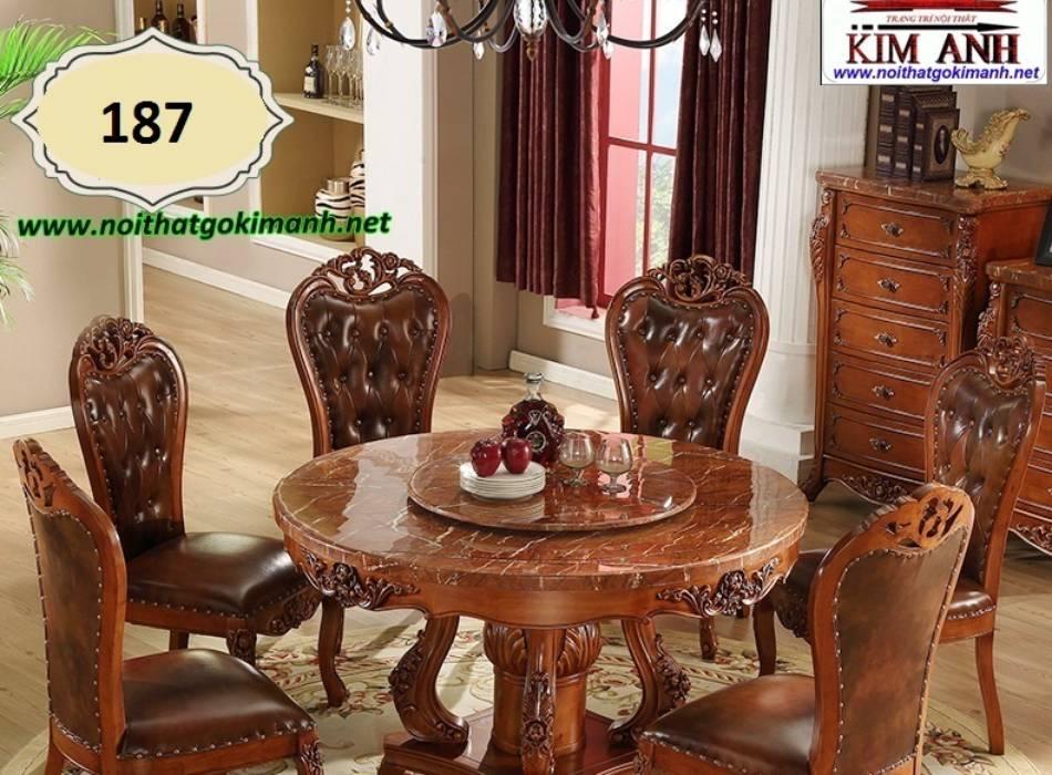 bàn ghế gỗ tân cổ điển