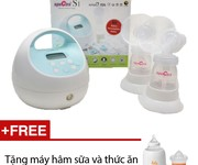 2 Máy hút sữa điện đôi Spectra DEW 350 - Tặng máy hâm sữa