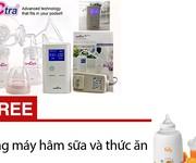 3 Máy hút sữa điện đôi Spectra DEW 350 - Tặng máy hâm sữa