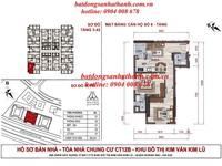 Chung cư Kim Lũ, căn 1110   CT12A, dt 65,1m2