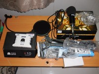 Thanh lý cả bộ micro thu âm Up 660   Soucad K10   Giá đỡ   ...
