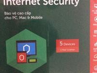 Kaspersky internet security 2017 giá 250k 1 máy