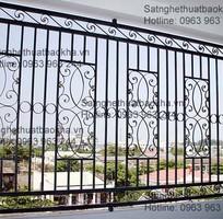 3 Hàng rào sắt bảo vệ đẹp,an toàn.