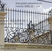 6 Hàng rào sắt bảo vệ đẹp,an toàn.