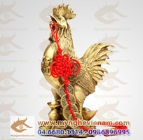 Sản xuất tượng gà đồng phong thủy, vật phẩm phong thủy bằng đồng