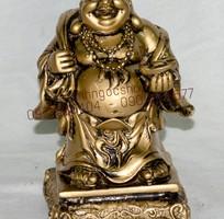 2 Tượng Phật Di Lặc phong thủy đá giả đồng