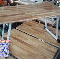 1 Bàn gỗ ghép chân gập vào trong giá rẻ nhất thị trường