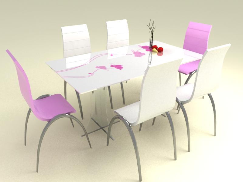 2 Bộ bàn ăn kính cao cấp