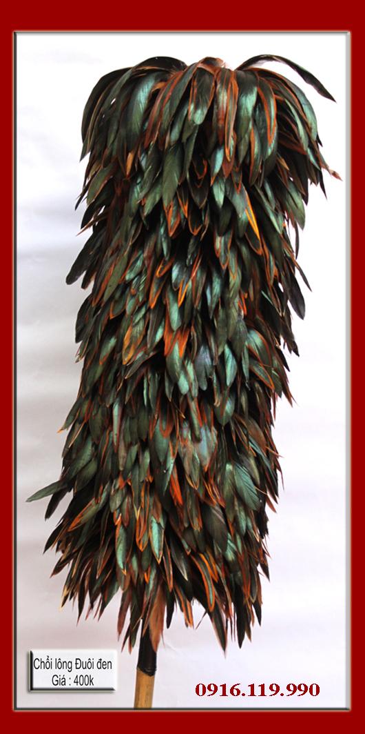Chổi lông gà Triều Khúc   Hộp đựng card sơn mài