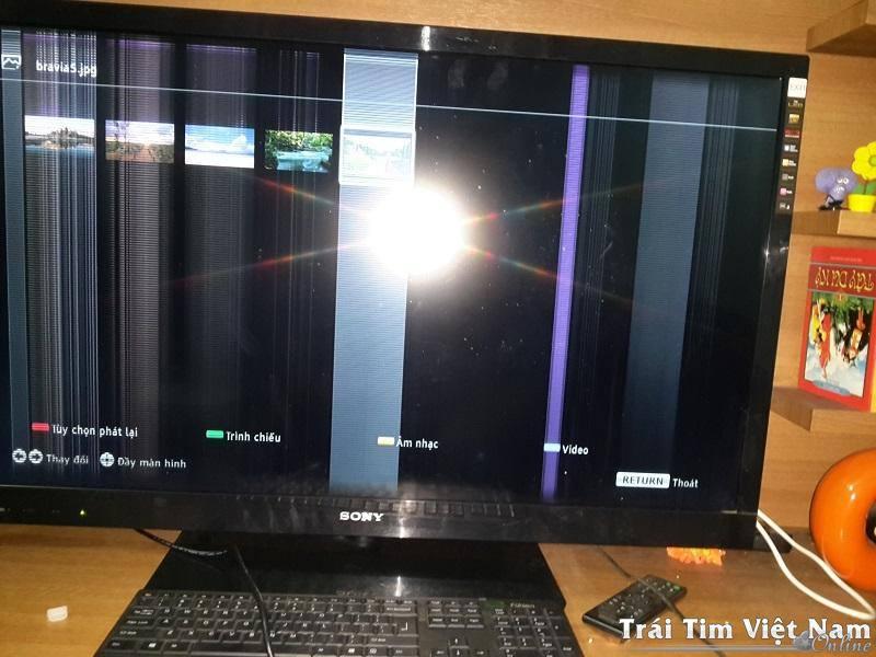 1 Màn hình tivi lcd,sony,samsung,bị phồng rộp,lỗi hỏng
