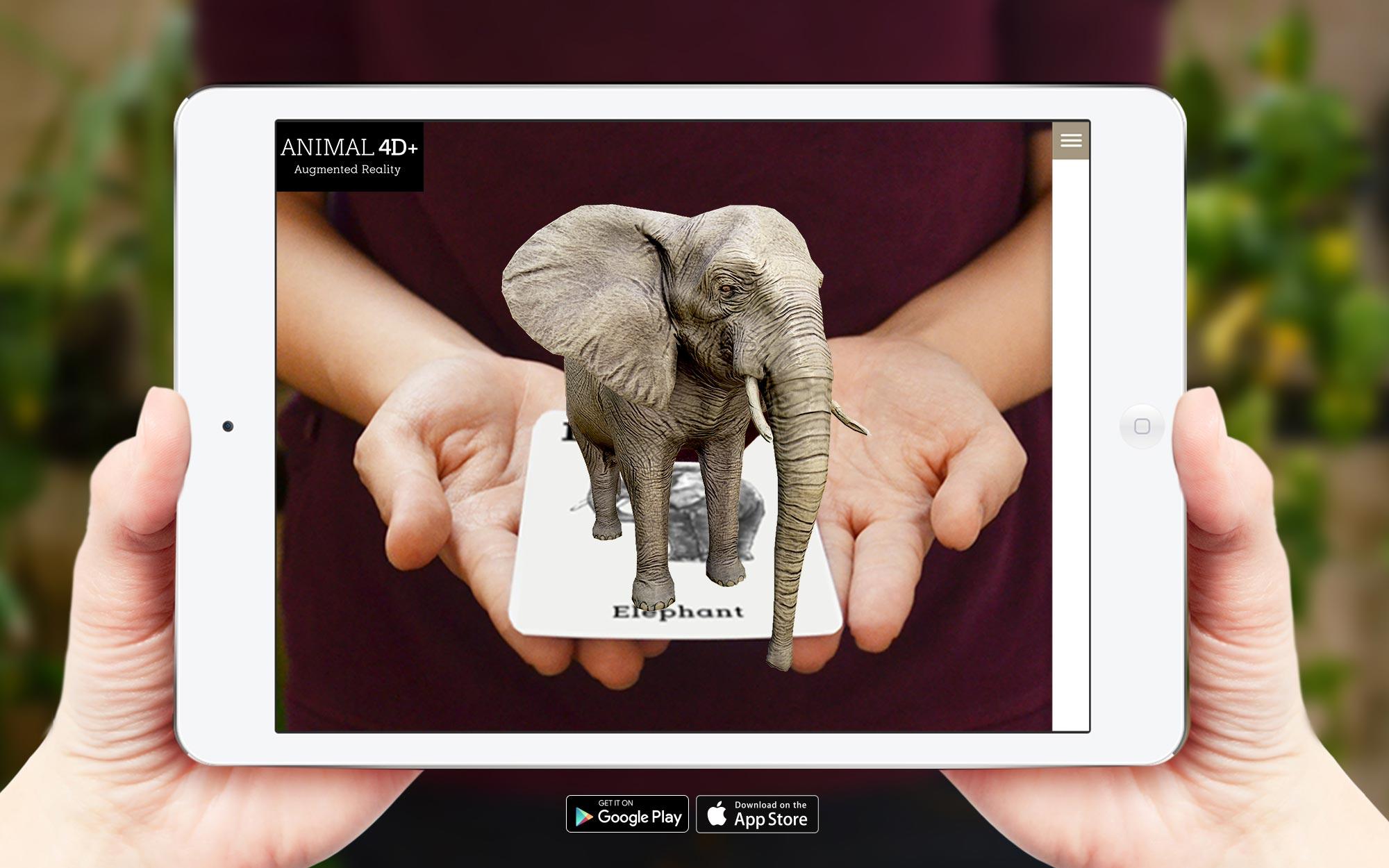 1 Thẻ 4D, Thẻ thực tế ảo 4D , thẻ động vật thực tế ảo 4D