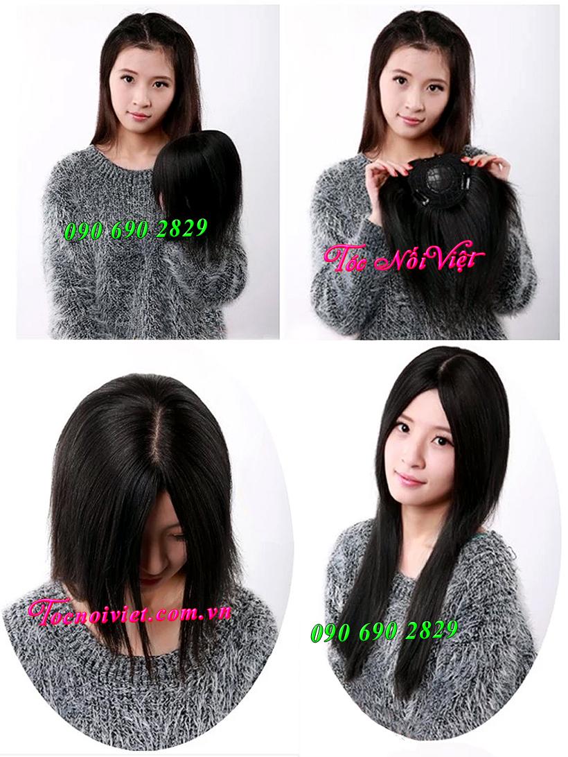 8 Toc hoi, mái hói giả nam nữ bằng tóc thật, tóc đội hói, bán tóc nối kẹp