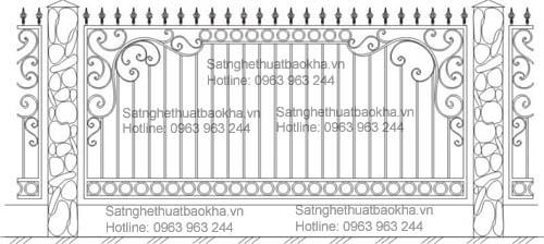 1 Hàng rào sắt bảo vệ đẹp,an toàn.