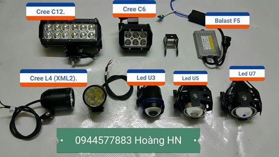 Đèn Led hỗ trợ L4, L4-F1 L4X-F1, Tun,  U3, U5, U7,U8, Cree C6, C12...
