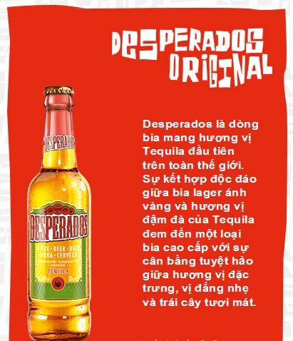 2 Bia Desperados chai nhập khẩu Halan uống cực đã