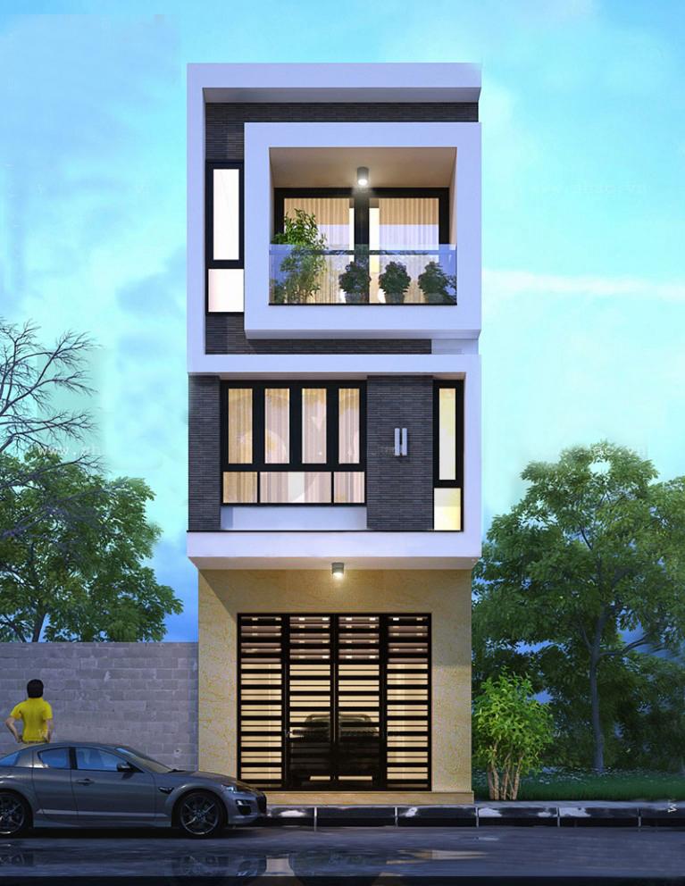 2 Thiết Kế Nhà Ống Tại Hà Nội 45.000đ, Thiết kế nhà ống đẹp ở Hà Nội Giá Rẻ